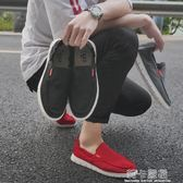 夏季休閒一腳蹬韓版老北京布鞋男青年韓版軟底男士百搭帆布懶人鞋  莉卡嚴選