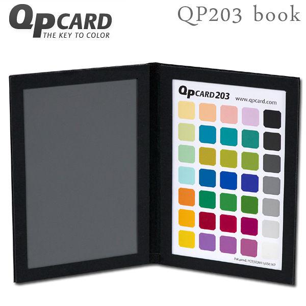 EGE 一番購】瑞典 QPcard 203 book 專業級色卡+灰卡 可校正白平衡 QP203【公司貨】