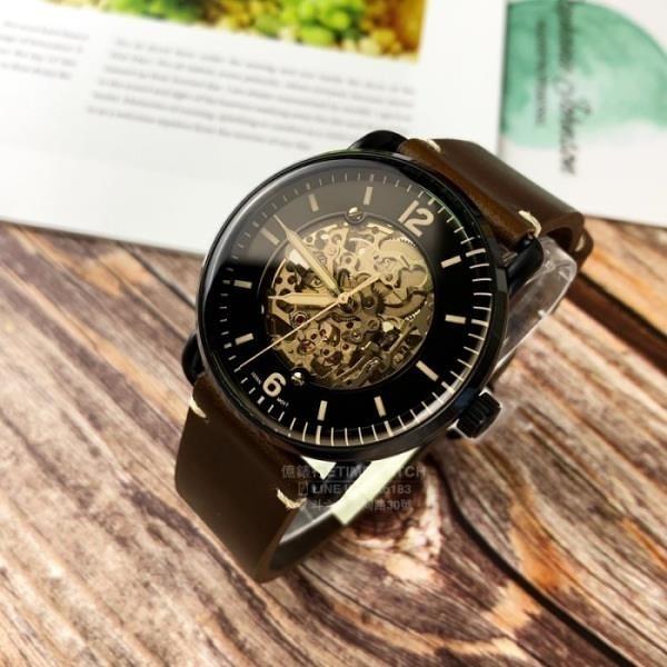 【南紡購物中心】FOSSIL美國品牌Commuter系列鏤空機械紳士腕錶ME3158原廠公司貨