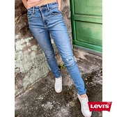 Levis 女款 721高腰緊身窄管牛仔褲 / 機能保暖內刷毛 / 刷破補丁 / 彈性布料