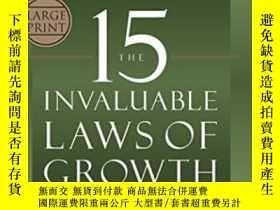 二手書博民逛書店The罕見15 Invaluable Laws Of Growth-15條無價的成長法則Y436638 Joh