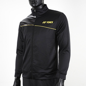 Yonex [17011TR007] 男 外套 運動 休閒 訓練 立領 吸濕 排汗 速乾 透氣 輕量 黑黃