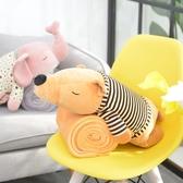 卡通抱枕靠墊辦公室午睡枕毯子多功能汽車折疊枕頭被子兩用三合一