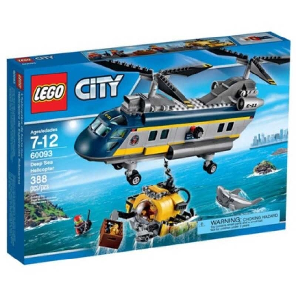 LEGO 樂高 City 城市系列 Deep Sea Helicopter 深海探險直升機 60093