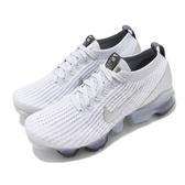 Nike 慢跑鞋 Wmns Air VaporMax Flyknit 3 白 銀 大氣墊 女鞋【ACS】 AJ6910-101