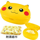 【日本正版】皮卡丘 日本製 濕紙巾盒 濕紙巾 神奇寶貝 PIKACHU 寶可夢 - 482791