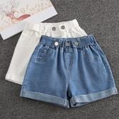 女童短褲 女童短褲夏季白色兒童洋氣中大童牛仔褲外穿女孩褲子夏裝-Ballet朵朵
