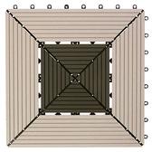 特力屋 塑木地板 30x30cm 方型拼接 單售