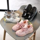 春秋新款兒童運動鞋透氣針織女童單鞋椰子鞋男童老爹鞋休閒鞋 格蘭小舖