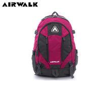 【橘子包包館】AIRWALK 攻頂 大容量雙層筆電登山後背包 A635322842 桃灰