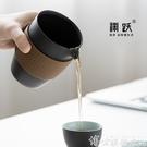 快客杯 淵躍快客杯一壺三杯兩杯旅行茶具套裝便攜式包泡茶杯日式logo LX 博世