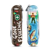 2020 限量上市 VICTORINOX 瑞士維氏限量迷你7用印花瑞士刀-釣魚