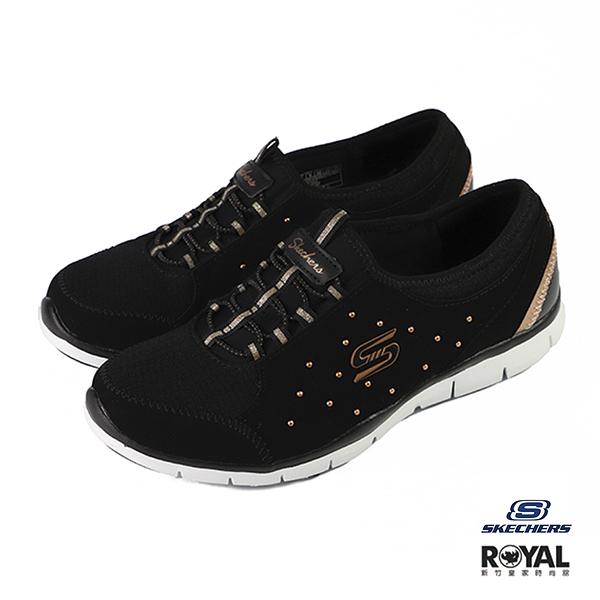 Skechers Gratis 黑色 皮質 套入 休閒鞋 女款 NO.J0165【新竹皇家 23359BKRG】