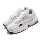 adidas 休閒鞋 Falcon W 白 綠 粉紅 女鞋 復古 老爺鞋 運動鞋【ACS】 FV8258