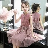 女童洋裝 女童裙子夏裝兒童夏季連身裙洋氣正韓薄款小女孩公主純棉-Ballet朵朵