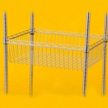 特力屋 鍍鉻網籃 46x60x17cm