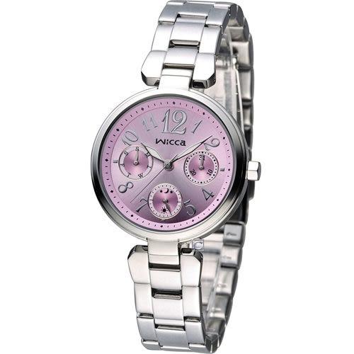 CITIZEN WICCA 英倫龐克風時尚腕錶 BH7-415-91 粉色