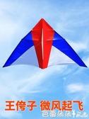 風箏 王侉子濰坊風箏大型三角傘布碳桿成人微風易飛精細做工微風風箏『快速出貨』