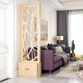 玄關屏風櫃 屏風隔斷客廳玄關現代簡約裝飾小戶型歐式鏤空雙面進門入戶間廳柜-三山一舍JY