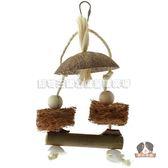 ~寵物王國~CARL 卡爾天然木製鸚鵡玩具原木攀爬玩具LBW 0514 天然元素搖擺鳥玩具
