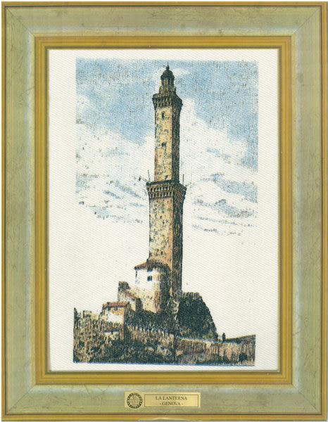義大利製帆布明信片 - 佛羅倫斯風景版畫