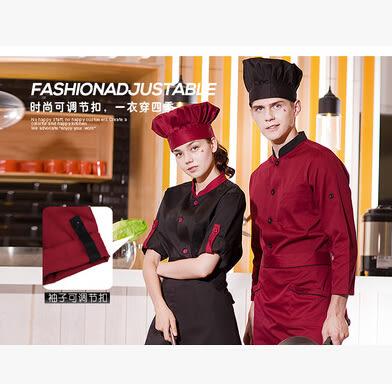 廚師服短袖夏裝廚房西餐廳酒店廚師衣服裝男女透氣廚師工作服長袖