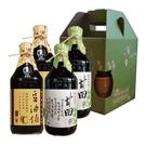 【台灣源味本舖】豆油伯缸底甘田醬油4入-甘2+缸2(童趣禮盒)