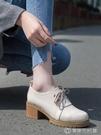小皮鞋女新款冬季加絨英倫風粗跟爆款秋鞋子百搭網紅高跟單鞋 創時代3c館