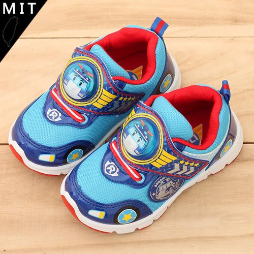 男童 POLI 波力 救援小英雄 拼接網布魔鬼氈 MIT製造 休閒鞋 運動鞋 電燈鞋 59鞋廊