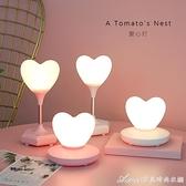台燈少女心小夜燈臥室女生可愛usb充電小夜燈宿舍學生護眼 交換禮物