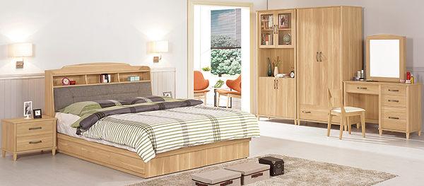 【森可家居】奈德3.5尺化妝台(含椅) 7CM085-3 木紋質感 無印北歐風 梳妝鏡檯