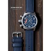 女郎彩繪 elegantsis JF48QS機頭藝術計時手錶-藍/48mm ELJF48QS-OU02LC