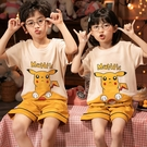兒童睡衣套裝男女童春夏季可愛卡通寶寶內衣中大童可外穿家居服