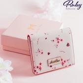 皮夾 春日櫻花摺疊短夾-Ruby s 露比午茶