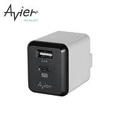 【Avier】PD3.0+2.4A USB 電源供應器(太空灰)