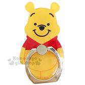 〔小禮堂〕迪士尼 小熊維尼 造型壓克力手機指環架 《黃紅.站姿.橘盒裝》可360度旋轉 8039311-10117