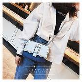 時尚鍊條包包女潮鉚釘側背包百搭斜背小方包