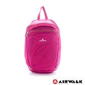 美國 AIRWALK  完美的一天 風衣式隨行輕量春捲小後背包-櫻花桃