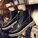 男鞋春季潮鞋2020新款高筒鞋男韓版潮流馬丁靴子百搭休閒工裝短靴 蘿莉小腳丫