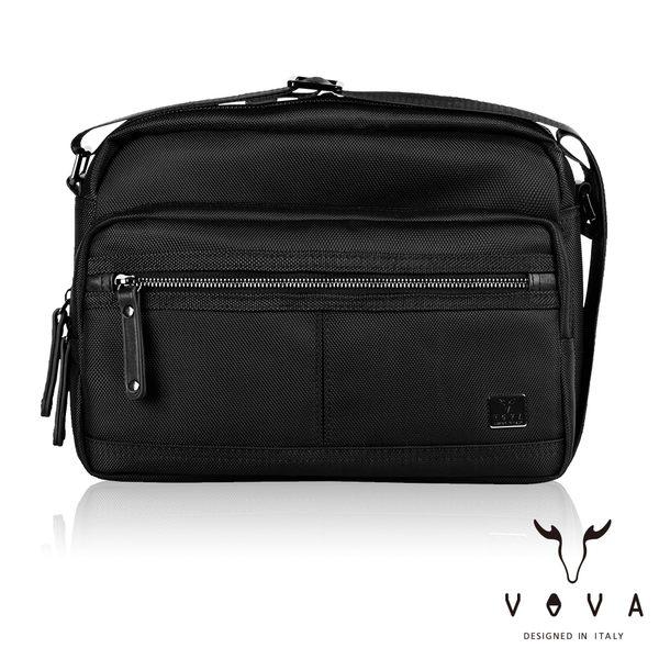 【VOVA】天際系列休閒斜背包(黑色)VA117S02BK