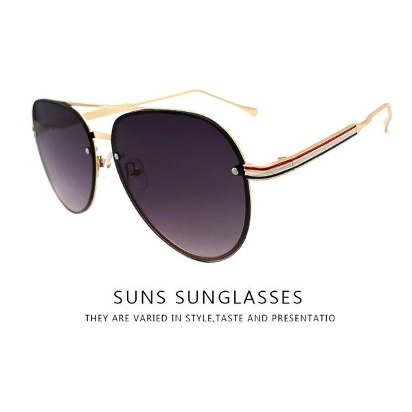 飛行員墨鏡 特殊框設計 墨鏡金屬框太陽眼鏡 男女休閒墨鏡100%抗紫外線保護眼睛