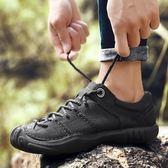 NIAN JEEP男鞋夏季英倫男士戶外運動休閒鞋頭層牛皮透氣大頭皮鞋 小巨蛋之家