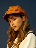 日系純色棉麻八角帽子女夏季文藝畫家復古簡約報童帽