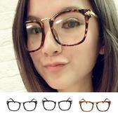 惡南宅急店【0036M】新品特價 顯小臉 箭頭平框鏡 平光眼鏡 平框眼鏡 鏡架 黑框眼鏡 可配近視眼鏡