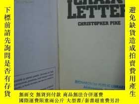 二手書博民逛書店Chain罕見Letter 精裝Y85718 Christoph