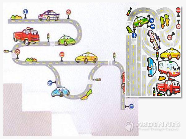 【ARDENNES】創意組合DIY壁貼/牆貼/兒童教室佈置(大) 交通汽車