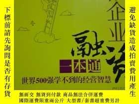 二手書博民逛書店罕見小微企業融資一本通--小微企業經營管理叢書 世界500強學不