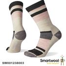 【速捷戶外】Smartwool 美麗諾羊毛襪 SW001238003 女輕量減震徒步條紋中長襪(炭黑)
