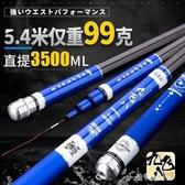 魚竿日本進口4.5米釣魚竿手竿超輕超硬台釣竿鯽魚竿28調YJT 小確幸生活館