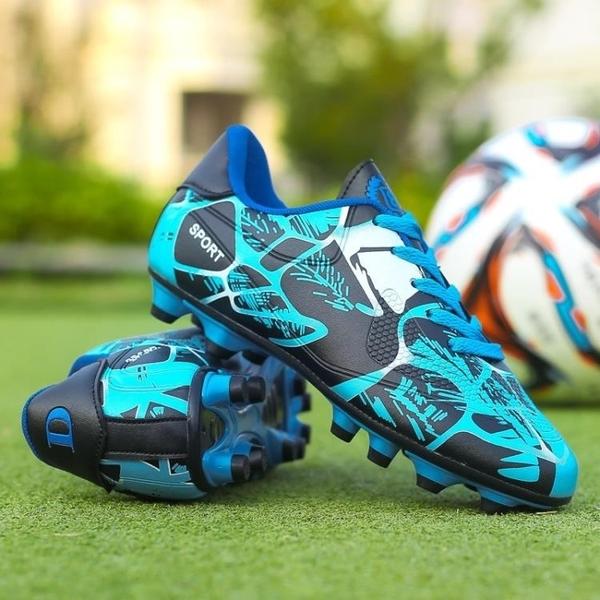 釘鞋室內男成人足球鞋長丁訓練鞋 C羅兒童小學生小孩男子防滑刺。 星際小舖